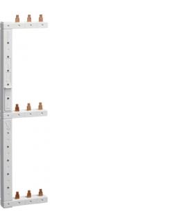 KCL368L Szyna grzebieniowa kołkowa pionowa 3P 16mm² do MCB 3-rzędowa lewa 125mm  Hager