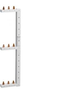KCL368R Szyna grzebieniowa kołkowa pionowa 3P 16mm² do MCB 3-rzędowa prawa 125mm  Hager