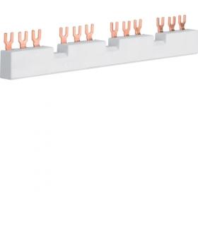 KD304M Szyna fazowa widełkowa 3P do 4 wyłączników silnikowych MM5xxN,  10 mm²  Hager