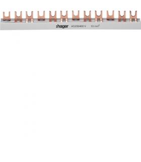KDN363B Szyna grzebieniowa widełkowa pozioma 3P 10mm² 57M Hager