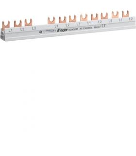KDN363F Szyna grzebieniowa widełkowa pozioma 4P 10mm² do RCCB 4P+MCB / SPD 4P+MCB 3P 12M Hager