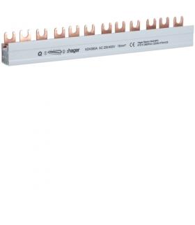 KDN380A Szyna grzebieniowa widełkowa pozioma 3P 16mm² 12M Hager