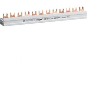 KDN463A Szyna grzebieniowa widełkowa pozioma 4P 10mm² 12M Hager
