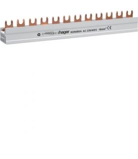 KDN480A Szyna grzebieniowa widełkowa pozioma 4P 16mm² do SPD 4P + RCCB 4P/MCB 4P 12M  Hager