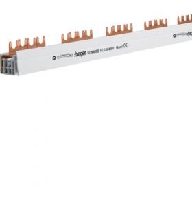 KDN480B Szyna grzebieniowa widełkowa pozioma 4P 16mm² do SPD 4P + RCCB 4P/MCB 4P 56M Hager