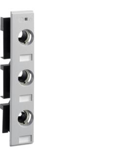 L063L1 Podstawa bezpiecznikowa D02 3P 63A z pokrywą izolacyjną W36mm Hager