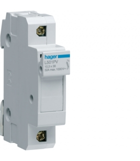 L501PV Modułowa podstawa bezpiecznikowa do systemów PV 1P 10x38mm 32A 1000VDC Hager