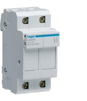 L502PV Modułowa podstawa bezpiecznikowa do systemów PV 2P 10x38mm 32A 1000VDC Hager