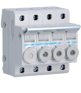 L95400 Modułowy rozłącznik bezpiecznikowy 3P+N wkł.bezp.cyl.L38 10x38mm 20A 400VAC Hager