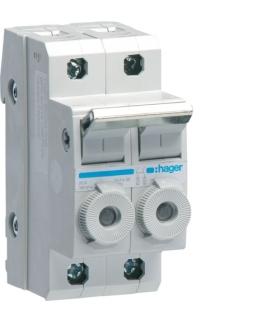 L96200 Modułowy rozłącznik bezpiecznikowy 2P wkł.bezp.cyl.L38 10x38mm 20A 400VAC Hager