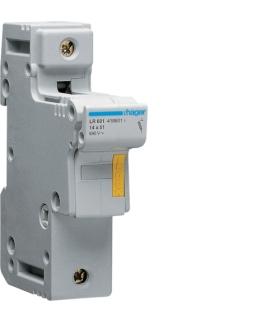 LR601 Modułowa podstawa bezpiecznikowa 1P wkł.bezp.cyl.L51 14x51mm 50A 690VAC Hager