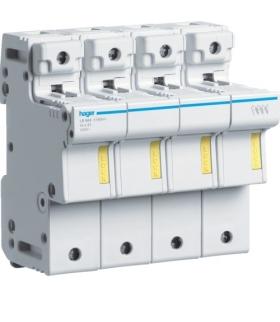 LR604 Modułowa podstawa bezpiecznikowa 3P+N wkł.bezp.cyl.L51 14x51mm 50A 690VAC Hager