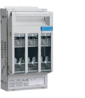 LT051 LT rozłącznik bezpiecz. NH00 3P 160A 690VAC płyta/szyny TS35 z.k.95mm²/odp 16mm²  Hager
