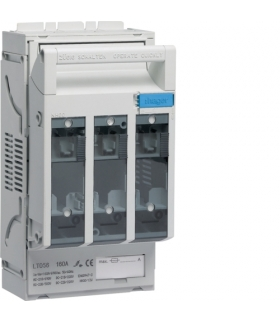 LT056 LT rozłącznik bezpiecz. NH00 3P 160A 690VAC szyny 60mm odpływ zac kl 95mm²  Hager