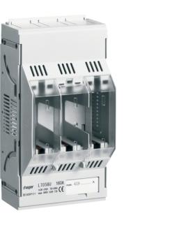 LT056U LT podstawa bezpiecz. NH00 3P 160A 690VAC szyny Cu 60mm zaciski klatkowe 95mm² Hager