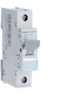 MBN110E MCB Wyłącznik nadprądowy Icn 6000A 1P B 10A  Hager