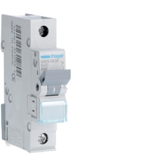 MBN140E MCB Wyłącznik nadprądowy Icn 6000A 1P B 40A  Hager