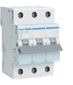 MBN320E MCB Wyłącznik nadprądowy Icn 6000A 3P B 20A Hager