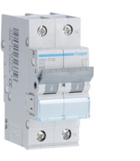 MBN513E MCB Wyłącznik nadprądowy Icn 6000A 1P+N B 13A  Hager
