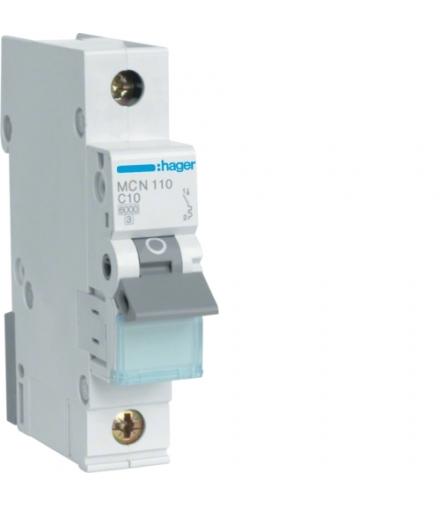 MCN110E MCB Wyłącznik nadprądowy Icn 6000A 1P C 10A  Hager