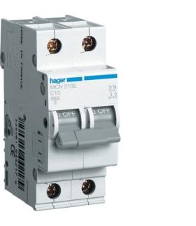 MCN210E MCB Wyłącznik nadprądowy Icn 6000A 2P C 10A Hager