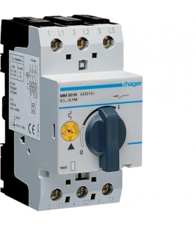 MM501N Wyłącznik silnikowy 0,1-0,16A Hager