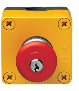 MZ531N Przycisk bezpieczeństwa IP67 z kluczem  Hager