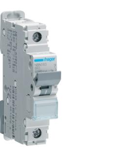 NBN163 MCB Wyłącznik nadprądowy Icn 10000A / Icu 15kA 1P B 63A Hager