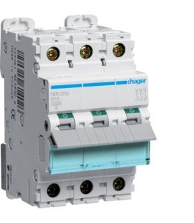 NBN316 MCB Wyłącznik nadprądowy Icn 10000A / Icu 15kA 3P B 16A Hager