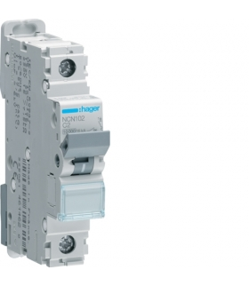 NCN102 MCB Wyłącznik nadprądowy Icn 10000A / Icu 15kA 1P C 2A  Hager