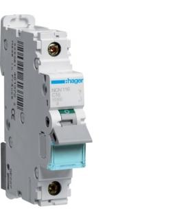 NCN116 MCB Wyłącznik nadprądowy Icn 10000A / Icu 15kA 1P C 16A  Hager