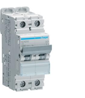 NCN204 MCB Wyłącznik nadprądowy Icn 10000A / Icu 15kA 2P C 4A  Hager