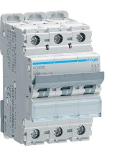 NCN310 MCB Wyłącznik nadprądowy Icn 10000A / Icu 15kA 3P C 10A Hager