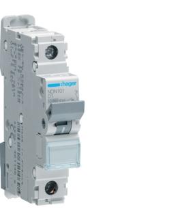 NDN101 MCB Wyłącznik nadprądowy Icn 10000A / Icu 15kA 1P D 1A Hager