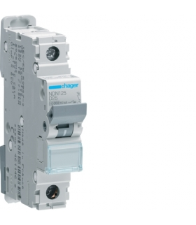 NDN125 MCB Wyłącznik nadprądowy Icn 10000A / Icu 15kA 1P D 25A Hager