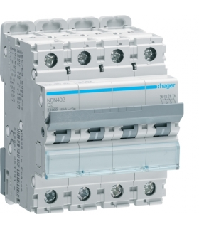 NDN402 MCB Wyłącznik nadprądowy Icn 10000A / Icu 15kA 4P D 2A  Hager