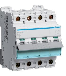 NDN416 MCB Wyłącznik nadprądowy Icn 10000A / Icu 15kA 4P D 16A  Hager