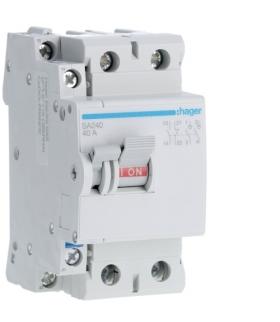 SA240 Modułowy rozłącznik izolacyjny z możliwością wyzwalania 2P 40A 230VAC, styk pom. Hager