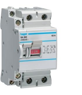 SA263 Modułowy rozłącznik izolacyjny z możliwością wyzwalania 2P 63A 230VAC, styk pom. Hager
