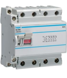 SA463 Modułowy rozłącznik izolacyjny z możliwością wyzwalania 4P 63A 400VAC, styk pom. Hager