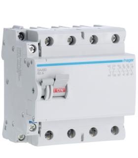 SA480 Modułowy rozłącznik izolacyjny z możliwością wyzwalania 4P 80A 400VAC, styk pom. Hager