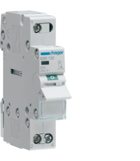 SBB132 Modułowy rozłącznik izolacyjny z lampką sygnalizacyjną 1P 32A 230VAC  Hager
