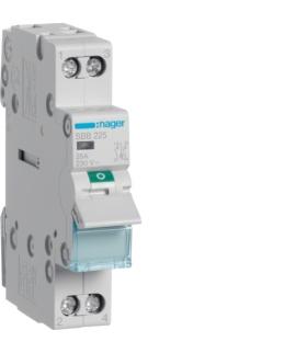 SBB225 Modułowy rozłącznik izolacyjny z lampką sygnalizacyjną 2P 25A 230VAC Hager