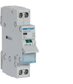SBM232 Modułowy rozłącznik izolacyjny z lampką sygnalizacyjną 2P 32A 230VAC Hager