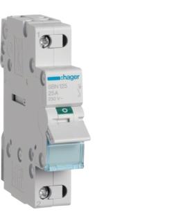 SBN125 Modułowy rozłącznik izolacyjny 1P 25A 230VAC  Hager