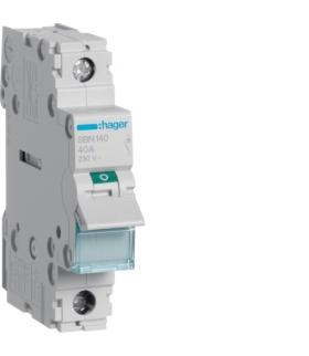 SBN140 Modułowy rozłącznik izolacyjny 1P 40A 230VAC  Hager