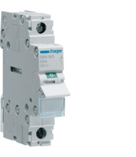 SBN163 Modułowy rozłącznik izolacyjny 1P 63A 230VAC  Hager