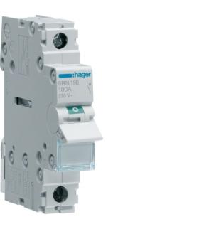 SBN190 Modułowy rozłącznik izolacyjny 1P 100A 230VAC  Hager