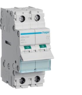 SBN240 Modułowy rozłącznik izolacyjny 2P 40A 400VAC Hager