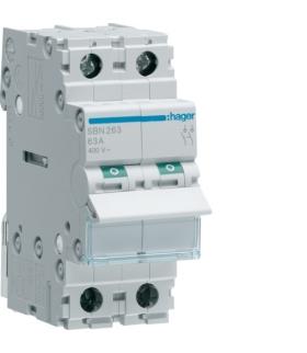 SBN263 Modułowy rozłącznik izolacyjny 2P 63A 400VAC  Hager